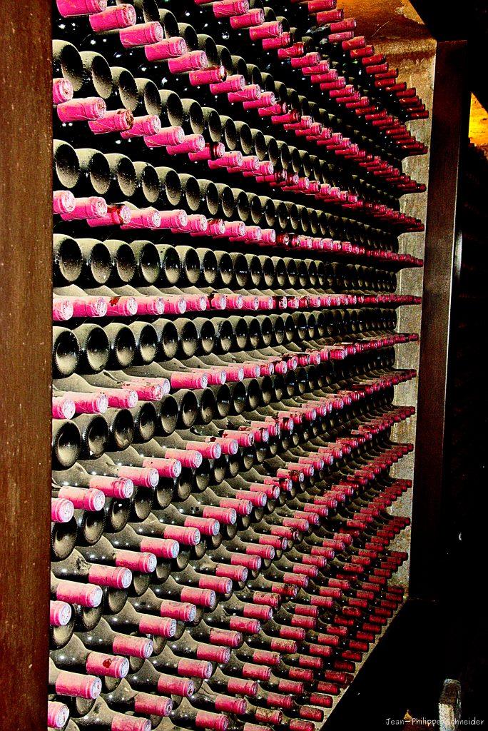 Bouteilles de vin, La Geria à Lanzarote